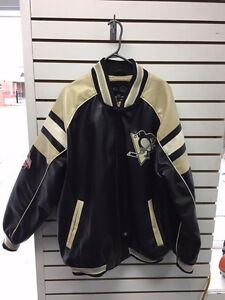 Pittsburgh Penguins Leather Jacket XXL