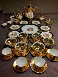 TEA SET 32 PIECES Gold Plated  Cornwall Ontario image 1