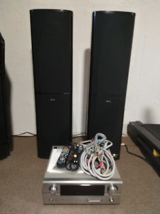 High End 7.1 Stereo Amp, Speakers & Monster Cables