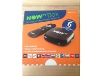 NOW TV box with 6 month pass NEW n SEALED