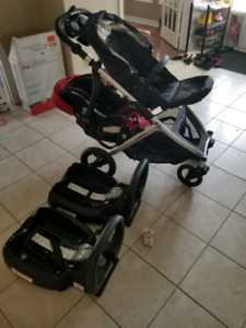 Britax b ready with second car seat adapter and 2 bases