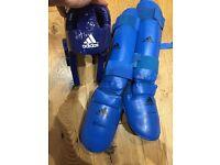 Adidas shin + foot guards Adidas Martial Arts Head Guard