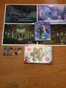 Frozen puzzle and storybook with figurenes for sale