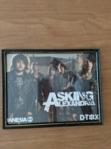 Asking Alexandria signed and framed poster