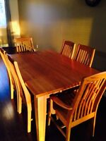 Solid Maple 6 Chair Dining Set