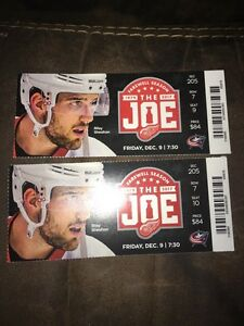 2 Detroit Red Wings vs.  Columbus Blue Jackets Tickets