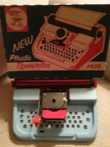 1960's Toy Typewriter In Original Box
