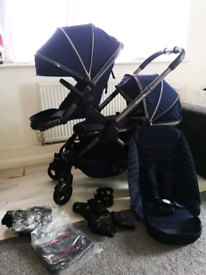 Icandy peach 5-6 Last Generation Double buggy carrycot twins I Icandy