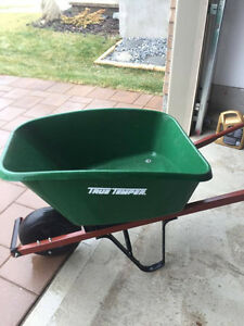 Saw, wheelbarrow, shovel, garden hose & reel,printer,& etc