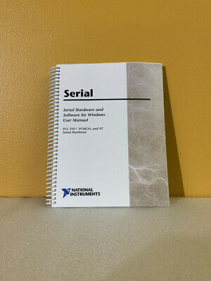 National Instruments 322983a-01 Serial Hardware Software For Windows Manual