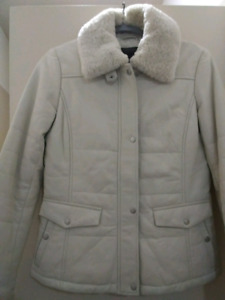 Leather white jacket XS from Danier