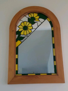 One if a Kind Stained Glass Mirror