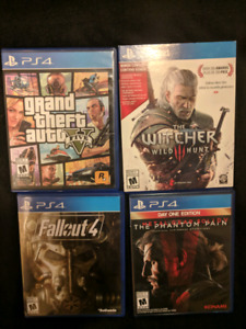 Various PS4 Games - Excellent Condition.