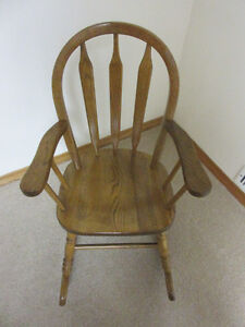Solid Oak Child's Rocking Chair