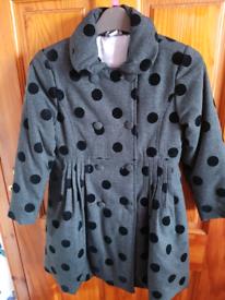 Brand new girls coat age 5-5