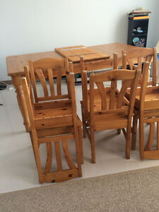 Ikea Pine Wood Dining Set - pickup only