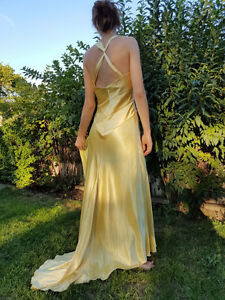 Le Chateau Elegant Golden Shimmery Dress