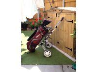 Golf Set with Folding Trolley