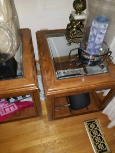 COFFE TABLE AND 2 NIGHT TABLES, SET OF 3 ITEMS