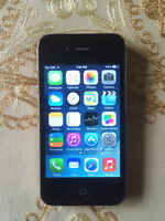 IPHONE 4 BLACK 8GB(ROGERS/CHAR-R)(GOOD CONDITION )