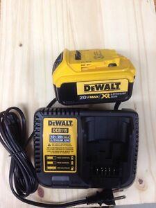 Dewalt 12v - 20v charger ( brand new) + 20v 4 amp battery