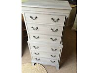 Vintage Solid Oak Tall boy Chest of Drawers / Can Deliver