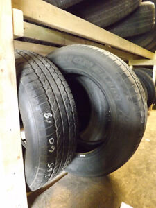 265/60R18 Michelin's – 1000's of Used Tires In Stock Peterborough Peterborough Area image 1