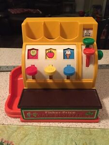 Vintage Collectible 1974 Fisher Price Cash Register