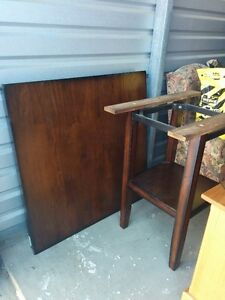 Solid Dark Wood Counter/Bar Height Dinning Table