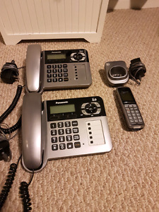 Panasonic Cordless/Corded Phone w/ Answering Machine