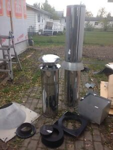 9' stove pipe!! With accessories