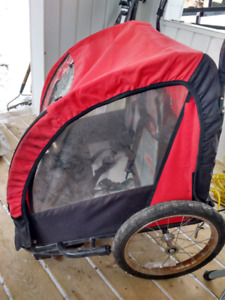 Buggy for behind a bicycle