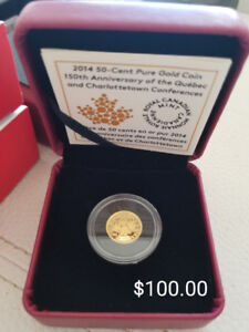 2014 50 cent pure gold coin