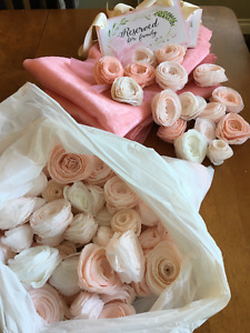 Wedding decorations- Blush pink,coral and off white