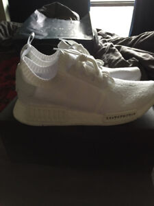 Adidas Triple White NMD PK Japan Edition - Size 10