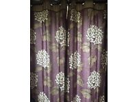 2 X pairs of lined next curtains