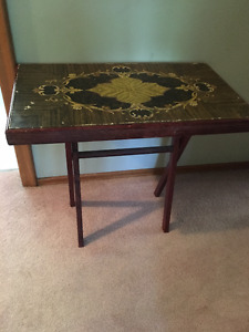 Vintage Beautiful Wooden Folding Table