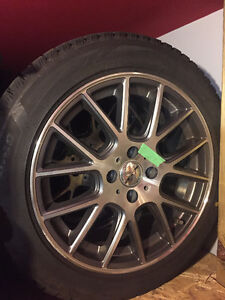 Mini Winter tires with mags 195/55/16