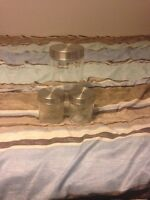 3 piece glass tupperware