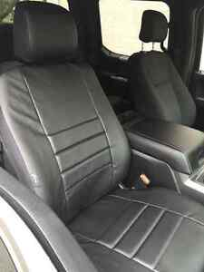 F150 black fia leather seat covers front and back