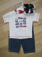 3 pc baby boy outfit
