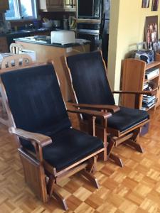 chaise bercante en bois de marque Shermag