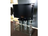 "Panasonic 32"" HD ready LCD TV with glass stand"