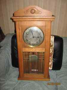 Chime Wall Clock, Beveled glass, 1930's