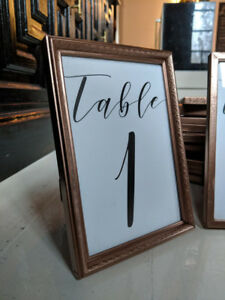 Wedding Table Numbers (Rose Gold)