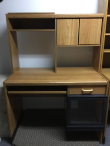 Computer desk and matching shelf for sale