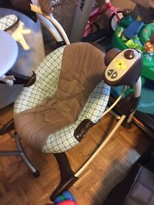 Baby swing, bassinet, breast pump bouncing chair & play gym