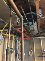 Registered plumber to move natural gas line
