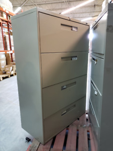 Metal Large 4-Drawer Filing Cabinets / 10 Available