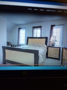Modern solid wood queen bedroom